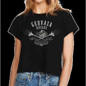 Marškinėliai (moteriški) - Gervaza dūzgės